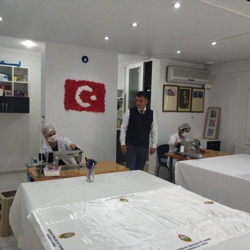 Bodrum'da maske üretimi başladı