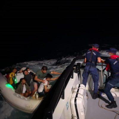 Bodrum açıklarında 44 düzensiz göçmen kurtarıldı